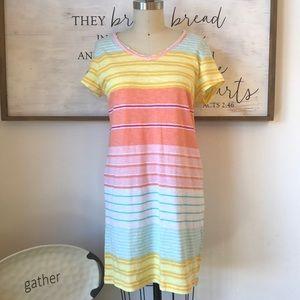 C&C California Multicolor Striped Cotton Dress M
